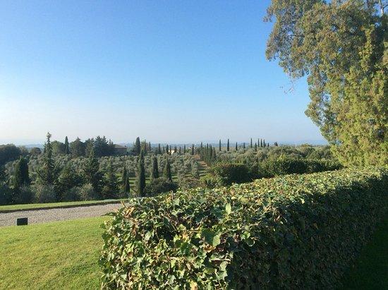 Vagliagli, Italien: Wonderfull vieuws on Siena and garden