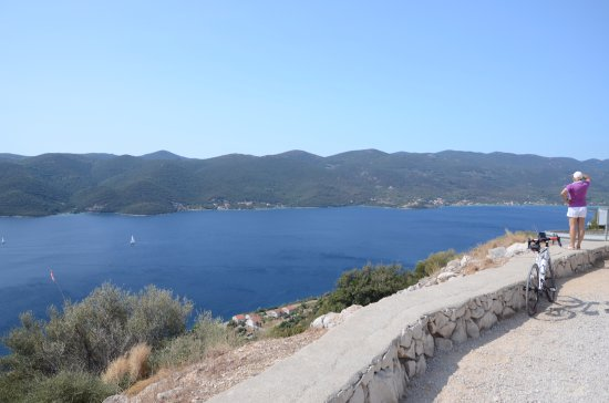 Viganj, Horvátország: Widok na Adriatyk i Korculę