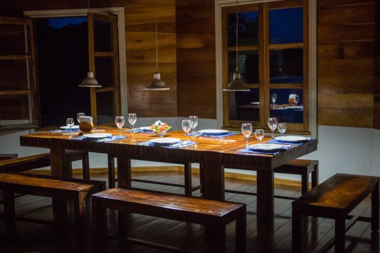 Isla San Cristobal, Panama: Our dinner table
