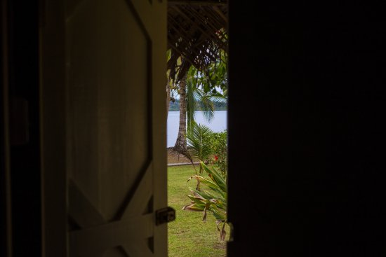 Isla San Cristobal, Panama: view from our cabana