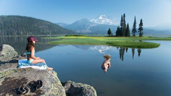 Bend, OR: Spark Lake swim