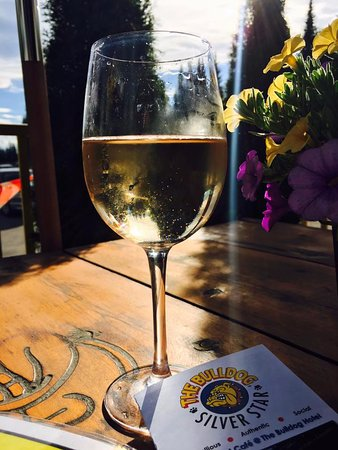Enjoy a drink on the biggest patio in Silver Star
