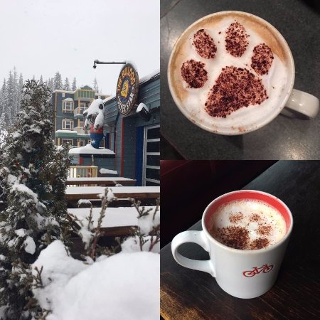 Silver Star, Canadá: Specialty coffee served at The Bulldog Grand Cafe