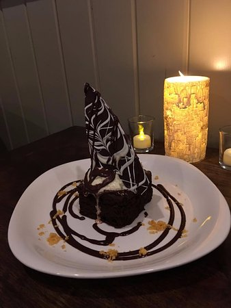 Silver Star, Канада: Home made Chocolate Brownie served at DiVine Cellar
