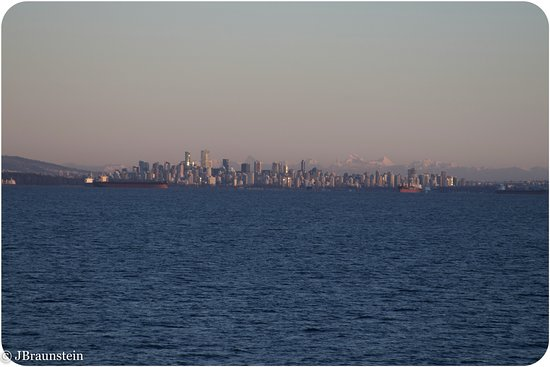 BC Ferries: This is the sky line sight from Vancouver taken from the ferry (Horse shoe bay <-> Nanaimo)