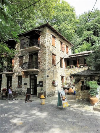 Milies, Greece: The Old Station hotel and restaurant