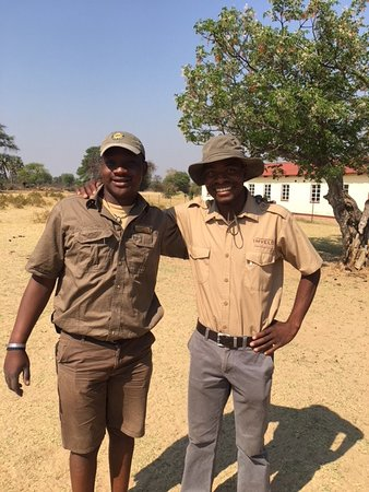 Hwange, Zimbabve: Our expert guides Aubz and Eric. They were amazing!
