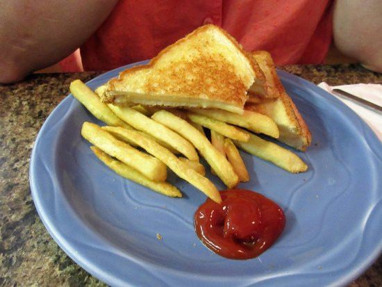 Grilled cheese w/ fries - Picture of Chincoteague Diner ...