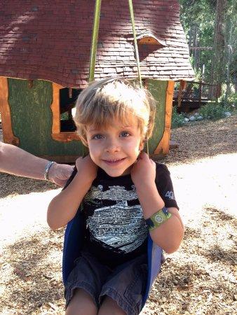 Skyforest, CA: Kiddie zip line