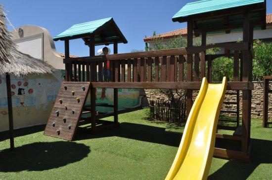 Apollonion Resort & Spa Hotel: Play area is hidden away behind the outdoor cinema