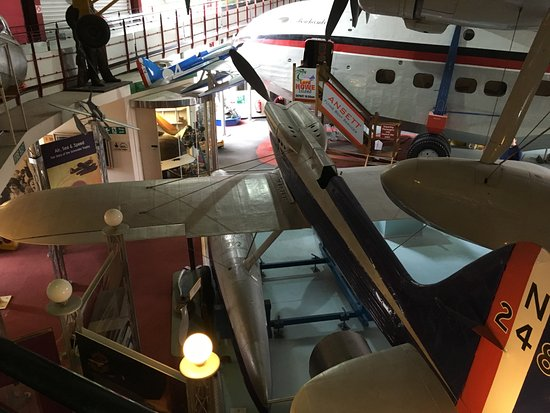 Solent Sky Museum: Another view of the Schneider Trophy plane and flying boat.