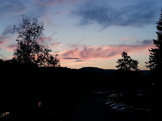 Quechee, VT: sunset from the porch