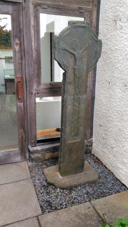 Carved mediaeval cross from Kilmichael church outside Kilmartin museum