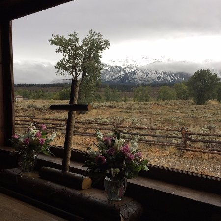 Chapel of the Transfiguration: View from the altar, with wedding flowers still in place!