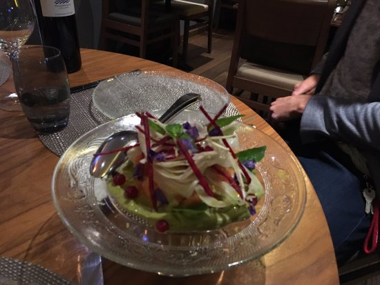 La Nicchia: Salmon Tartar with Guacamole, Radicchio and Pomegranate