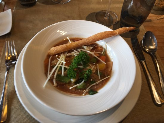 Schonried, Suiza: Soup of the day with Vegetables and Mushrooms