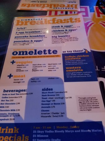 Blondies Sports Bar & Grill : The breakfast
