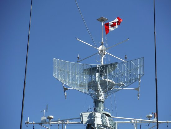 The ship from ground level - Picture of HMCS Haida National