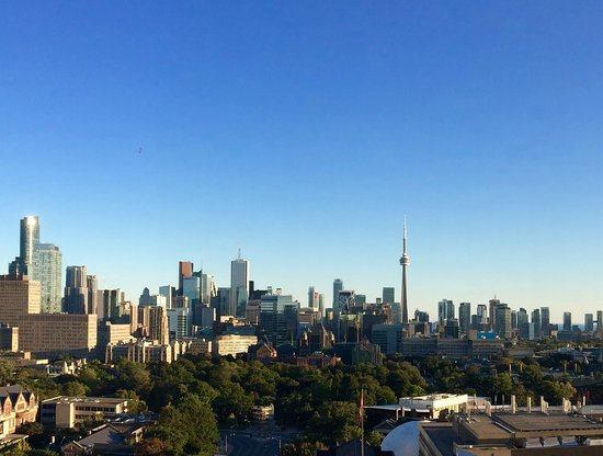 Park Hyatt Toronto: View from the terrace at the rooftop lounge