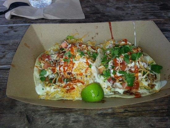 Finns Island Style Grub: Blackened Shrimp Tacos