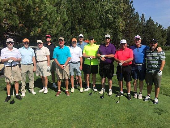 Sunriver, Oregón: Crosswater golf course - first tee