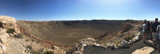 Winslow, AZ: Meteor Crater Panorama