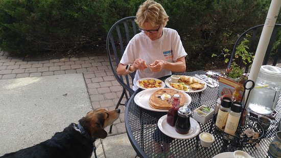 Lincolnshire, إلينوي: Dog friendly outdoor seating! Woo hoo!