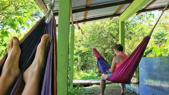 Toucan & Tarpon: Relaxing in hammocks.