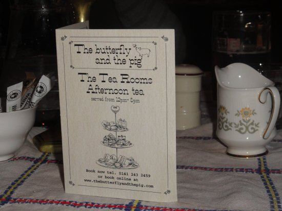 The Butterfly And The Pig: Loved this tea room/restaurant