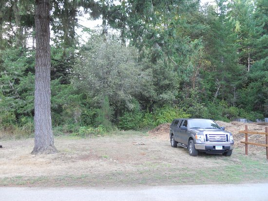 Redwood Meadows RV Resort: Tent site on the edge of the park