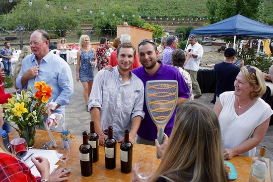 Yates Family Vineyard: Our two son's enjoying the Annual Harvest Party