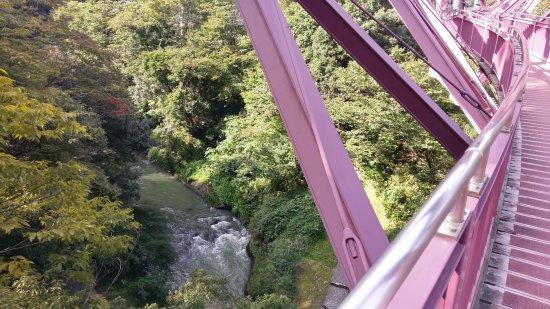 Kaga, Japonia: あやとり橋からの渓谷