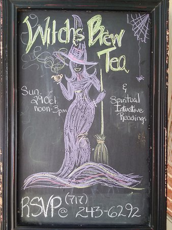 Carlisle, PA: Hand colored sidewalk sign announces upcoming events in style