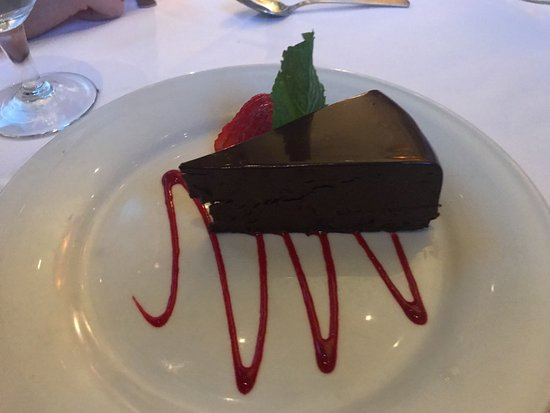 Ruth's Chris Steak House - Edmonton: Flourless Chocolate Sin Cake