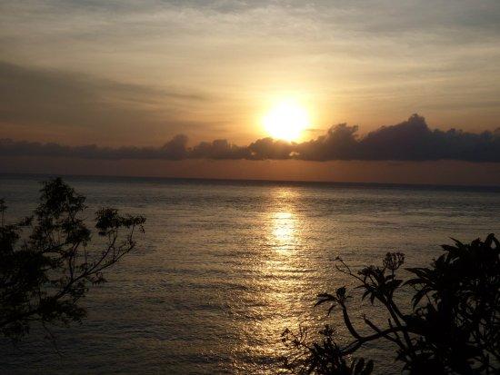 Blue Moon Villas: Sunrise from Blue Angel Oceanfront Penthouse