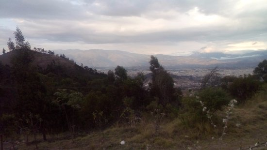 View of Riobamba, in the background the Andes