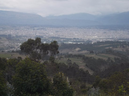 View from the lodge grounds, Riobamba, the Andes in background