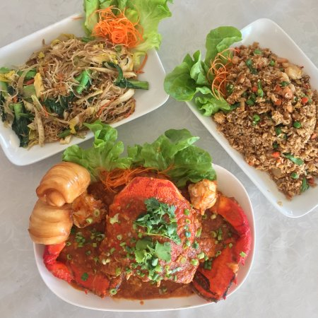 Kingsford, Австралия: Fried Bee Hoon, Signature Singapore Chilli Crab, Fried Rice