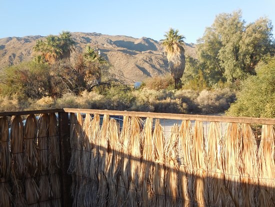 29 Palms Inn: This is the view from the private sun patio for Cabin Z.