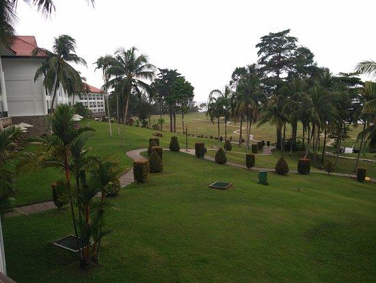 Bintan Lagoon Resort: View from Ocean View Room balcony