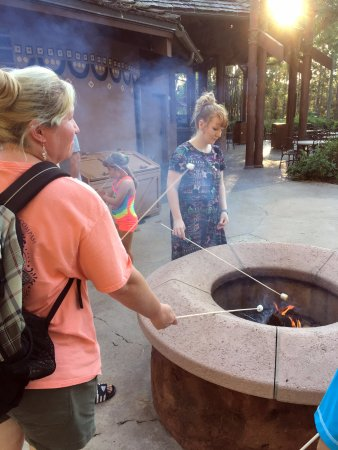Disney's Animal Kingdom Villas - Kidani Village: Toast Marshmallows near the pool