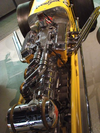 Wally Parks NHRA Motorsports Museum : Mooneye's Blown Chevy Rail