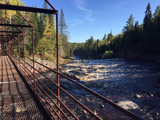 Silver Bay, MN: Hanging Bridge by High Falls