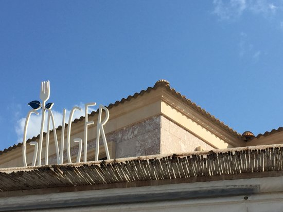logo auf dem dach picture of ginger beach palma de mallorca tripadvisor. Black Bedroom Furniture Sets. Home Design Ideas
