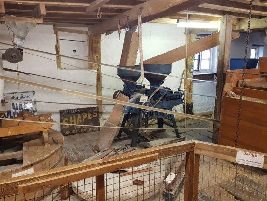 Mühle in Sturminster Newton. Sie war in Betrieb.
