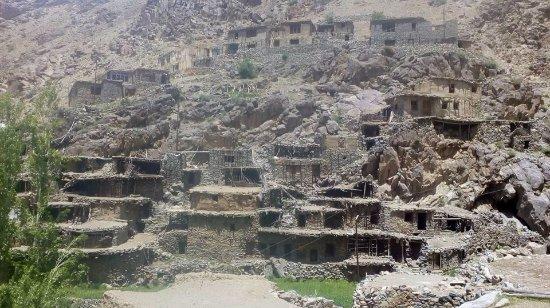 Kargil, Hindistan: Hundarman, the deserted village..