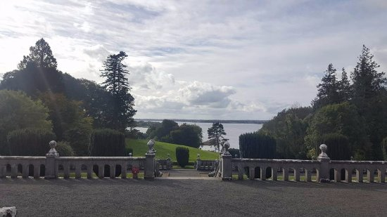 Belvedere House Gardens & Park: View of Lough Ennell from the House front door