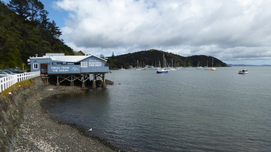 The World Famous Mangonui Fish and Chip Shop just down the road