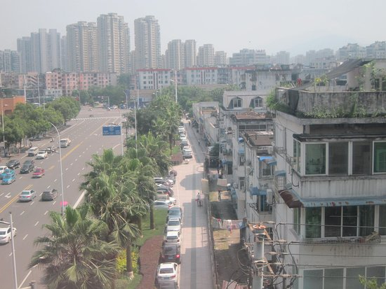 Wenzhou, China: View out of room