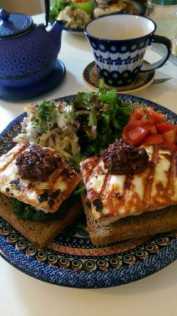 Bell Harbour, Irland: Haloumi with chocolate chutney!